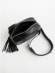 Black Quilted Belt Bag , BLACK, alternate
