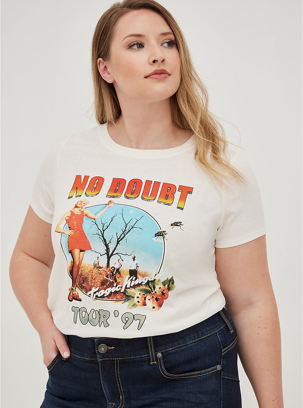 Classic Fit Crew Tee - No Doubt White, BRIGHT WHITE, hi-res