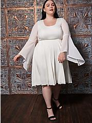 Angel Hi-Low Bell Sleeve Costume, CLOUD DANCER, hi-res