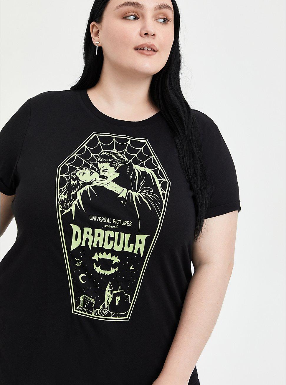 Universal Monsters Dracula Coffin Glow Top - Black, DEEP BLACK, hi-res