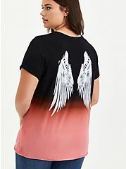 Classic Fit Slash Tee - Pink Dip Dye Wings, AZAELEA PINK, alternate