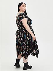 Plus Size Universal Monsters Handkerchief Dress - Super Soft Black, MULTI, alternate