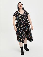 Plus Size Universal Monsters Handkerchief Dress - Super Soft Black, MULTI, hi-res