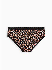Wide Lace Hipster Panty - Cotton Mushroom Black, MULTI, alternate