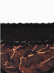 Wide Lace Trim Hipster Panty - Cotton Stormy Bats Black, MULTI, alternate