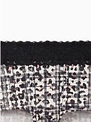 Plus Size Wide Lace Trim Boyshort Panty - Cotton Leopard Plaid, MULTI, alternate