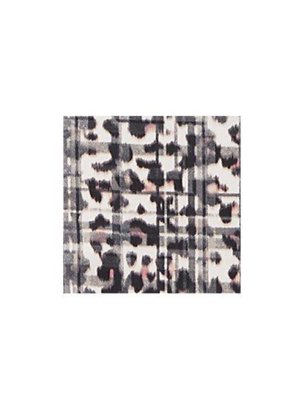 Wide Lace Trim Cheeky Panty - Cotton Leopard Plaid, MULTI, alternate