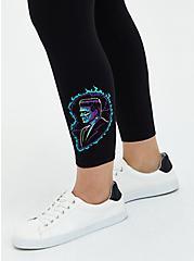 Universal Monsters Frankenstein Heart Crop Legging, DEEP BLACK, alternate