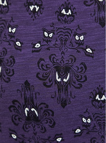 Disney Haunted Mansion Damask Sleep Tunic - Purple, MULTI, alternate