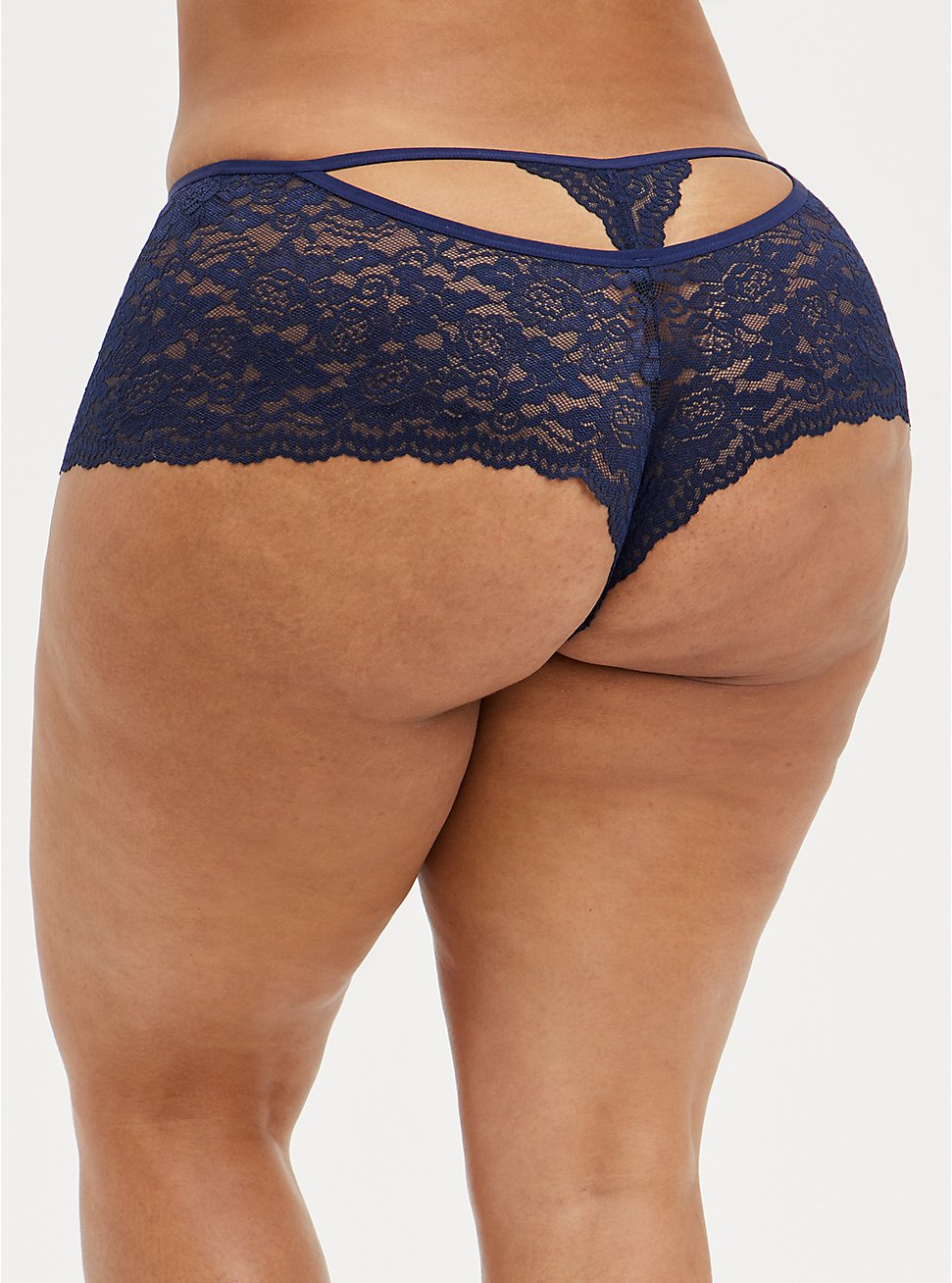Strappy Cheeky Panty - Lace Blue, PEACOAT, hi-res