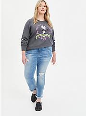 Disney The Nightmare Before Christmas Tunic Sweatshirt - Jack Skellington Grey, CHARCOAL HEATHER, alternate