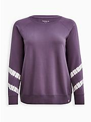 Active Sweatshirt - Terry Tie Dye Purple, PURPLE, hi-res