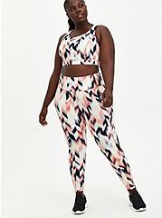 Full Length Active Legging - Arrow Print Pink, ARROWS - PINK, alternate