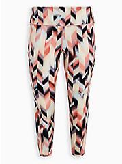Full Length Active Legging - Arrow Print Pink, ARROWS - PINK, hi-res