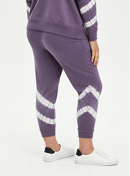 Classic Fit Active Jogger - Purple Tie Dye Terry, , alternate
