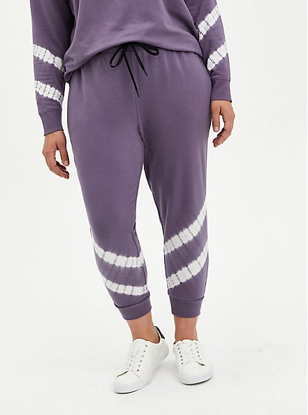 Classic Fit Active Jogger - Purple Tie Dye Terry, , hi-res