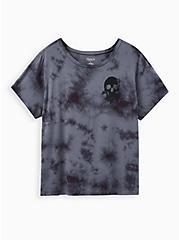 Active Tee - Tie Dye Skull Grey & Black , TIE DYE-BLACK, hi-res