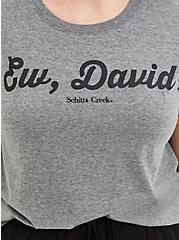 Classic Fit Crew Tee - Schitt's Creek Ew, David Grey, MEDIUM HEATHER GREY, alternate
