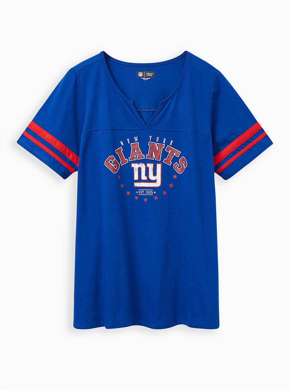 Plus Size Classic Fit Football Tee - NFL New York Giants Blue, PEACOAT, hi-res