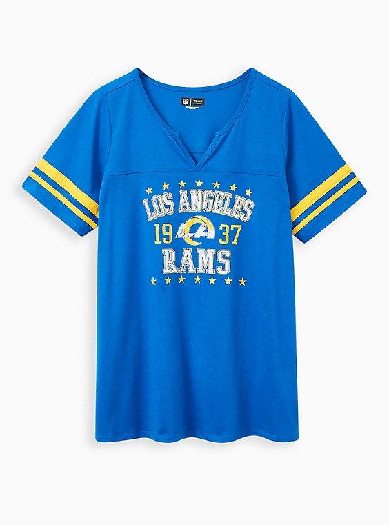 Classic Fit Football Tee - NFL Los Angeles Rams Blue, BLUE, hi-res