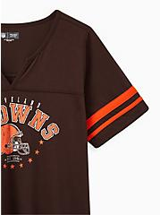 Plus Size Classic Fit Football Tee - NFL Cleveland Browns Brown , , alternate