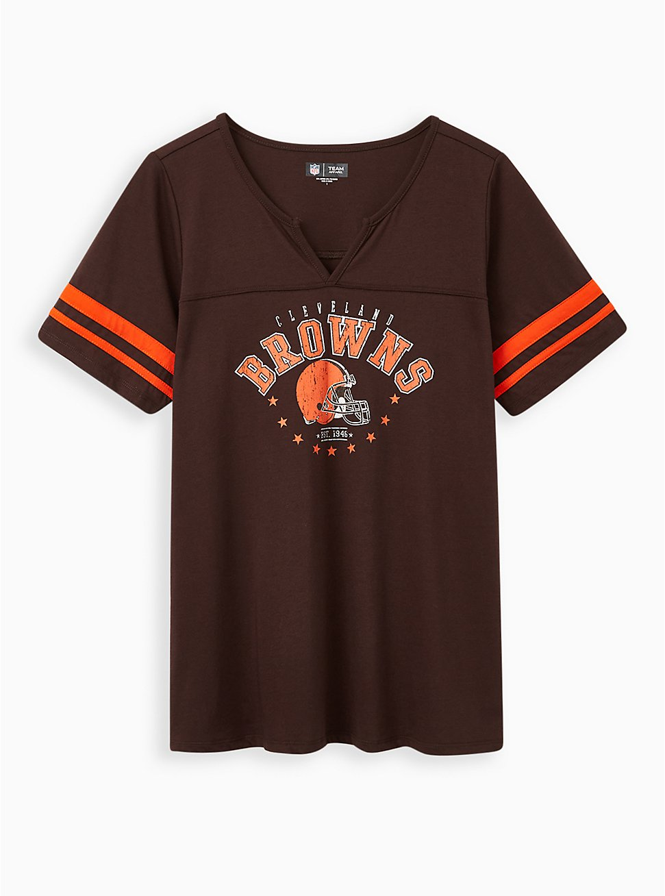 Plus Size Classic Fit Football Tee - NFL Cleveland Browns Brown , , hi-res