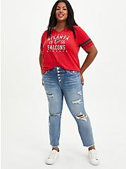Classic Fit Football Tee - NFL Atlanta Falcons Red, JESTER RED, alternate