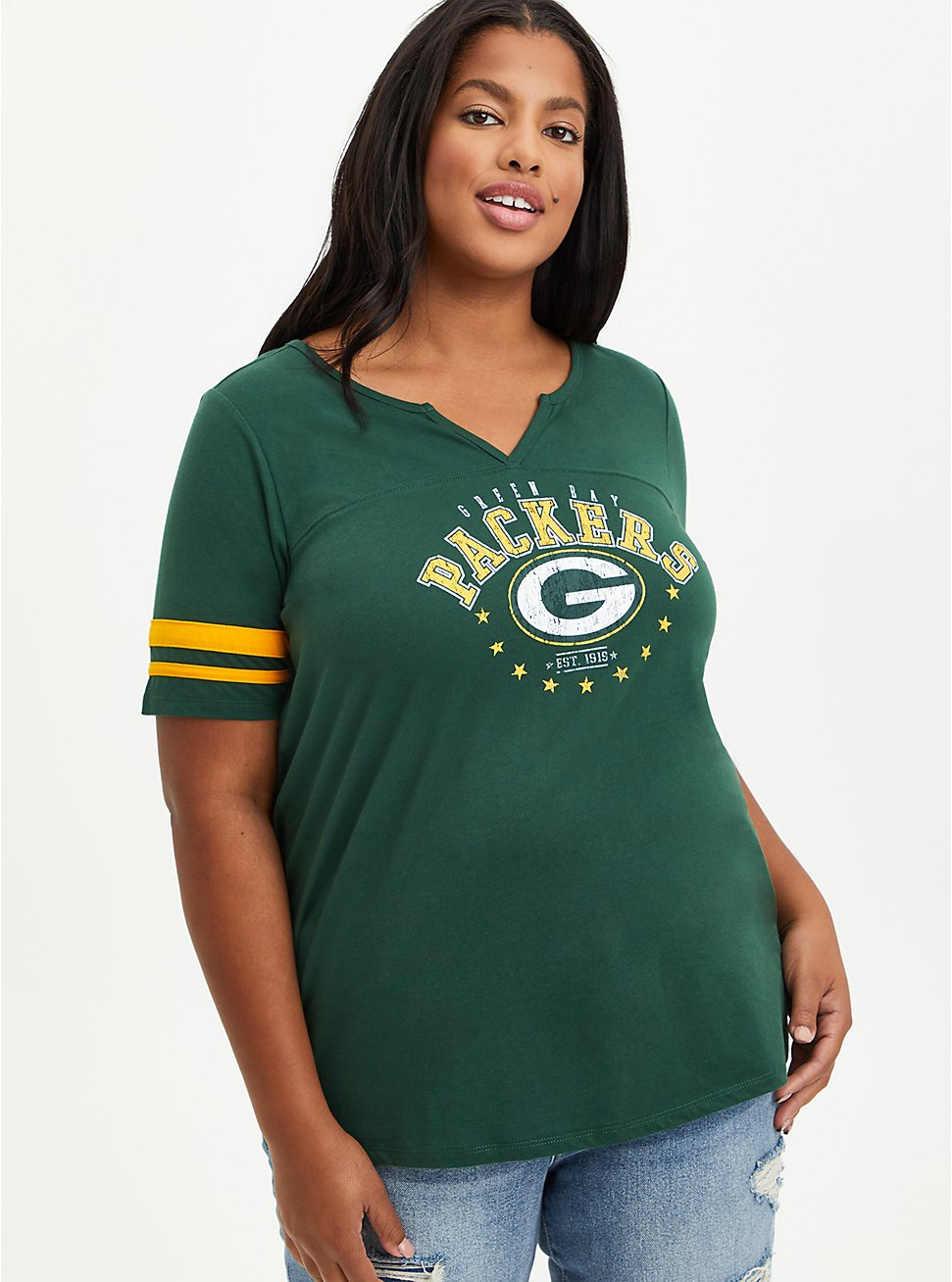 Classic Fit Football Tee - Green Bay Packers Green, GREEN, hi-res