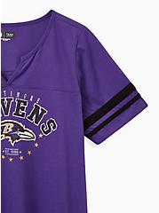 Classic Fit Football Tee - NFL Baltimore Ravens Purple, PURPLE, alternate