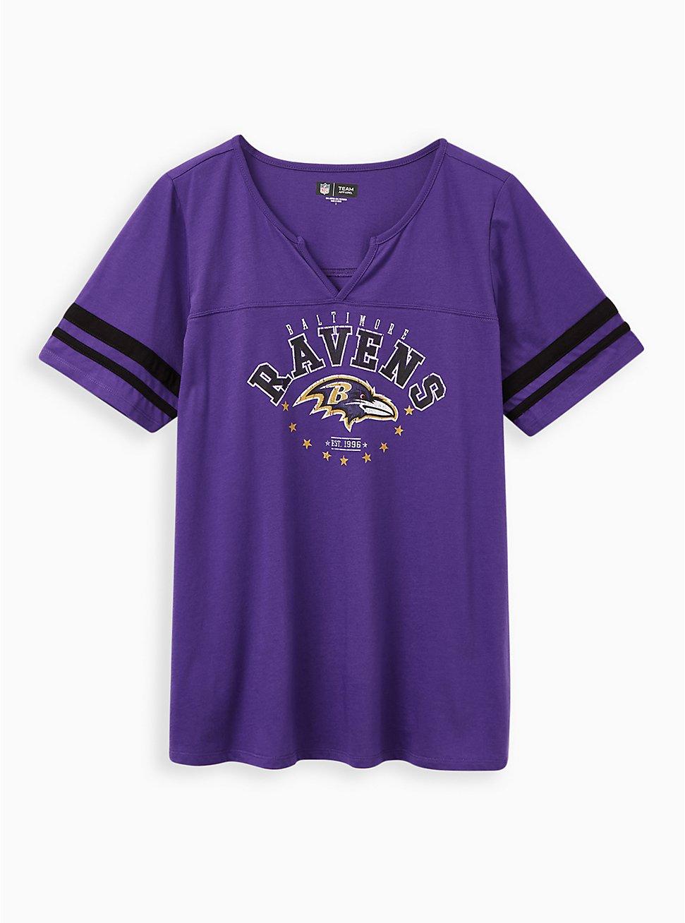 Classic Fit Football Tee - NFL Baltimore Ravens Purple, PURPLE, hi-res