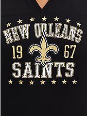 Classic Fit Football Tee - NFL New Orleans Saints Black, DEEP BLACK, alternate