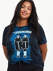 Plus Size Classic Fit Crew Tee - The Shining Twins Tie Dye Blue & Black , TIE DYE-BLUE, hi-res