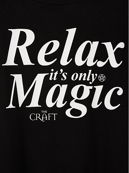 Classic Fit Crew Tee – The Craft Relax Black, DEEP BLACK, alternate