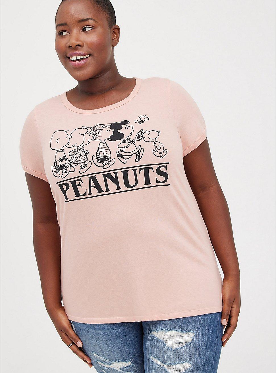 Classic Fit Ringer Tee - Peanuts Blush, BLUSH, hi-res