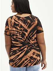 Plus Size Classic Fit Crew Tee - Red Hot Chili Peppers Black Tie Dye, DEEP BLACK, alternate