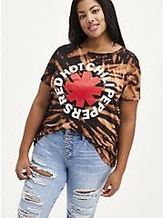 Plus Size Classic Fit Crew Tee - Red Hot Chili Peppers Black Tie Dye, DEEP BLACK, hi-res