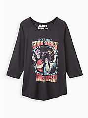 Classic Fit Raglan Tee - Janis Joplin Vintage Black, DEEP BLACK, hi-res