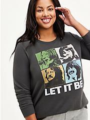 Beatles Sweatshirt - Fleece Let It Be Grey, DARK GREY, hi-res
