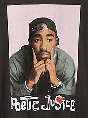 Classic Fit Crew Tee – Tupac Poetic Justice Black, DEEP BLACK, alternate