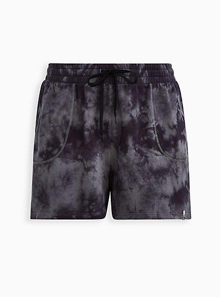 Active Short - Terry Tie-Dye Grey & Black, TIE DYE-BLACK, hi-res