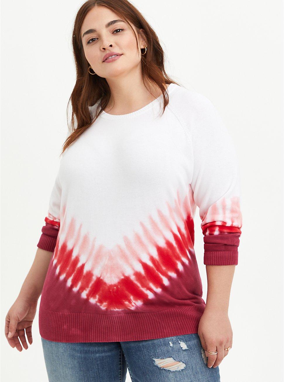 Raglan Sweater- Heritage Slub Tie Dye , TIE DYE, hi-res