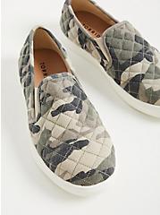 Plus Size Camo Canvas Slip-On Sneaker (WW), CAMO, alternate