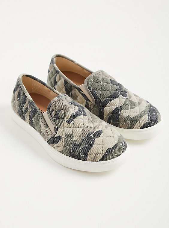 Camo Canvas Slip-On Sneaker (WW), CAMO, hi-res