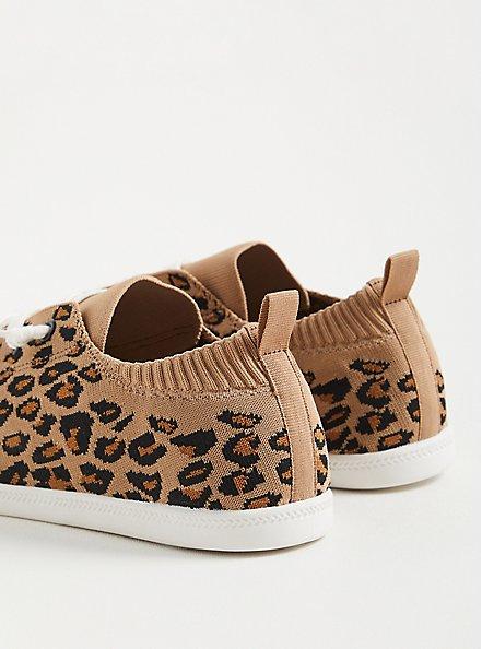 Riley Sneaker - Stretch Knit Leopard , LEOPARD, alternate