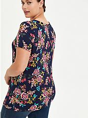 Super Soft Blue Floral Strappy Tee, OTHER PRINTS, alternate