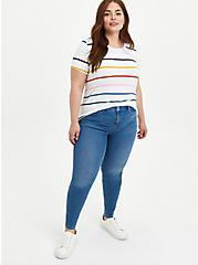 Perfect Tee - Super Soft Multi Stripe White, OTHER PRINTS, alternate