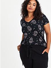 Perfect Tee - Super Soft Skulls Black, OTHER PRINTS, hi-res