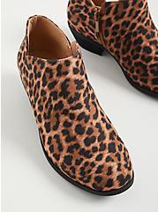Leopard Faux Suede V-Cut Bootie, LEOPARD, alternate