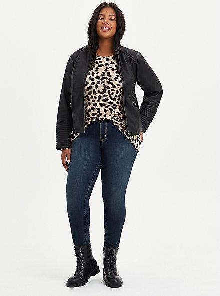 Raglan Sweater - Leopard, ANIMAL, alternate