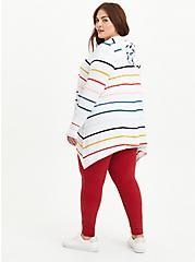 Drape Hoodie Cardigan - Super Soft Multi Stripe , STRIPE - MULTICOLOR, alternate